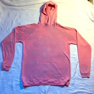 American Apparel Pink Hoodie Acid wash